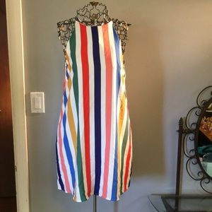 NWT Ivy & Leo Colorful Candy Striped Dress M Tyche